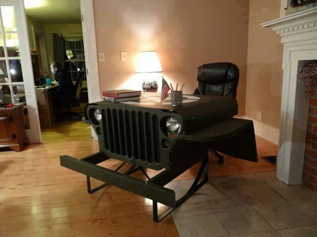 ww2 willys jeep desk get good gear. Black Bedroom Furniture Sets. Home Design Ideas